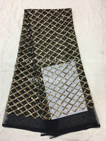 aa002 3 newest best quality grid paillette pattern net mesh lace fabric for wedding party