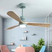 Vintage wooden ceiling fan light luxury home Wooden Ceiling Fans With Lights 42/52 Inch Blades Cooling Fan Remote Fan Lamp