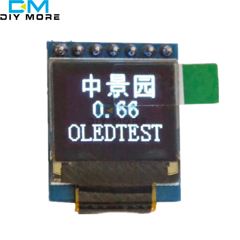 White 0.66 inch OLED Display 7PIN Module 64x48 0.66 LCD Screen SPI for Arduino AVR STM32