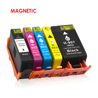 4pcs Magnetic Compatible Ink Cartridge For HP903 for HP 903XL For HP 6960 6961 6963 6964 Officejet Printers