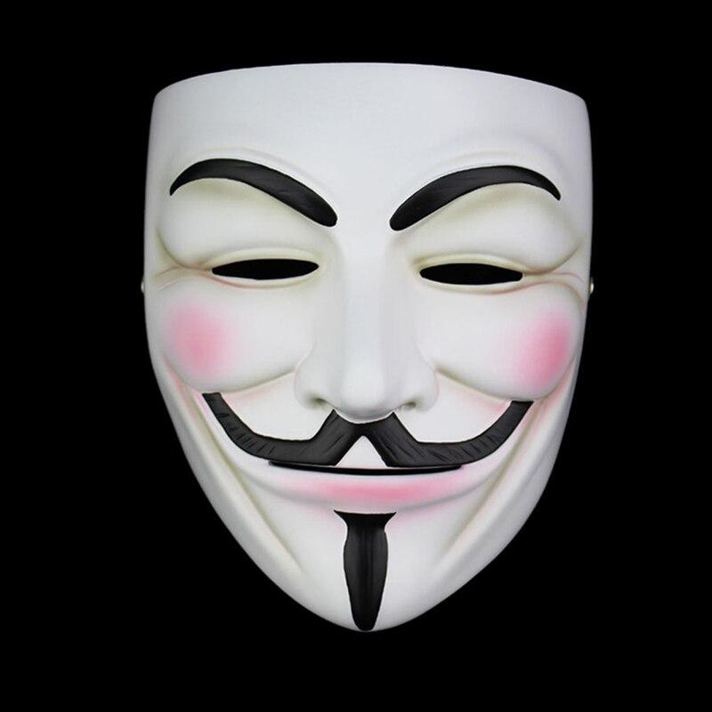 Высокое качество V для вендетты маска смолы собрать домашний декор вечерние линзы для косплея аноним маска Guy Fawkes