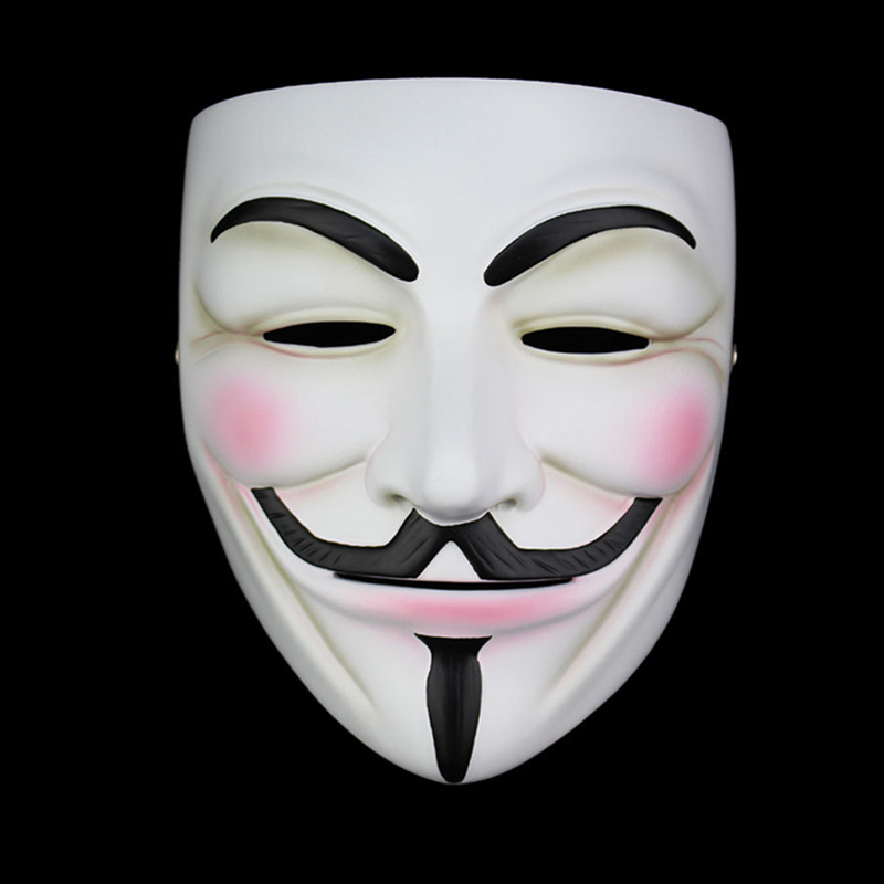 High Quality V For Vendetta Mask Resin Collect Home Decor Party Cosplay Lenses Anonymous Mask Guy Fawkesmask guy fawkesanonymous maskv for vendetta mask -