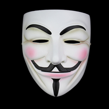 High Quality V For Vendetta Mask Resin Collect Home Decor Party Cosplay Lenses Anonymous Mask Guy Fawkes