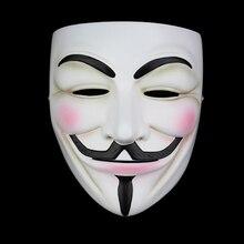 באיכות גבוהה V עבור Vendetta מסכת שרף לאסוף בית תפאורה מסיבת קוספליי עדשות אנונימי גאי פוקסmask guy fawkesanonymous maskv for vendetta mask
