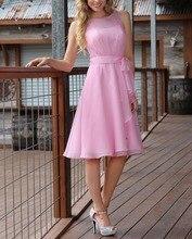 Sexy rosa prom dress knielangen chiffon-falte immer ziemlich kurz partei cocktailkleider vestido de festa curto de luxo