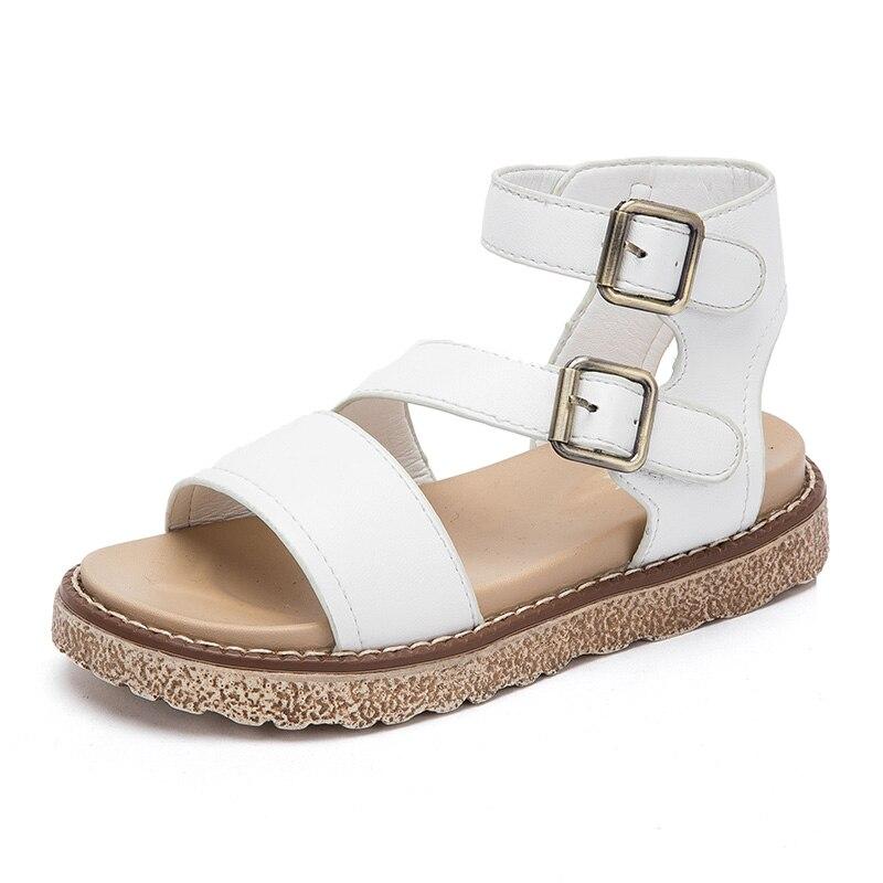 ULKNN Gladiator Girls Sandals Summer Cut-outs Princess Children Shoes Rome High Top Breathable Fashion Kids Sandals For Beach