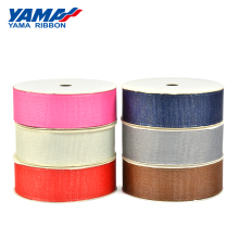 YAMA Gold Purl Grosgrain Ribbon 3mm 1/8 inch 350yards/roll for Party Wedding Decoration Handmade Rose Flowers Crafts Gifts
