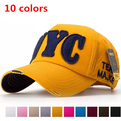 Hot sale baseball cap multi color lovers men and women <font><b>NYC</b></font> summer casual Outwear hat fashion unisex peak visor cap image