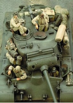 1/35 Scale WW2 American Tank Crews Four WWII Figure Resin Model Kit Free Shipping