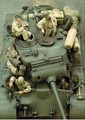 1/35 escala WW2 americano equipos del tanque de cuatro WWII figura de la resina modelo Kit envío gratis