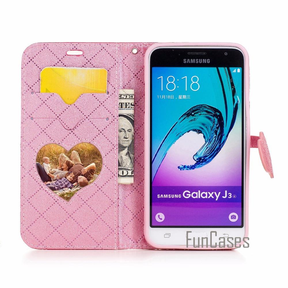 Flip Case sFor Samsung Galaxy J3 2016 Case 5 inch J320 J320F for fundas Samsung J3 2015 Case Cover + Card Holders galx