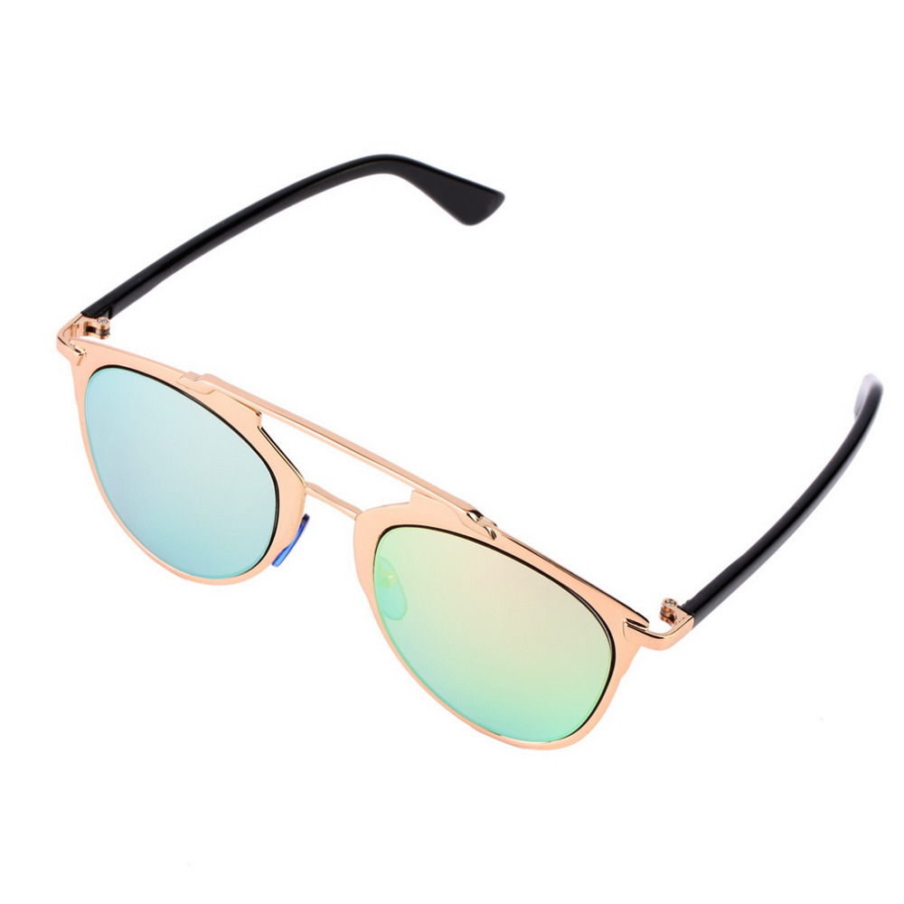classic large frame sunglasses women metal cat eye goggles fashion reflective sports sunglasses cheap and new hot selling