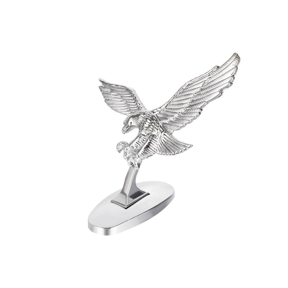 1 Pcs 3D Emblem Angel Eagle Auto Car Front Cover Chrome Hood Ornament Sticker Badge Bonnet Car Decoration Styling Accessories