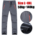 6XL 7XL 8XL New Men's Softshell Pants Breathable With Fleece Windproof Trousers Thermal Winter Windstopper Pants Men Pan001