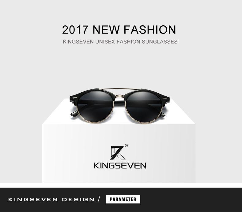 17 KINGSEVEN Retro Rivet Polarized Sunglasses Women Classic Brand Designer Sun glasses Eyewear Bridge Frame Oculos Gafas N7346 1