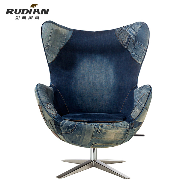 As typical Danish furniture famous personality denim chair egg chair Creative leisure chair designer King  sc 1 st  AliExpress.com & As typical Danish furniture famous personality denim chair egg chair ...