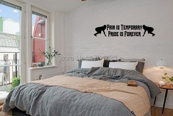 Decoratie Slaapkamer Muur : Pijn is tijdelijke trots is forever woondecoratie woonkamer