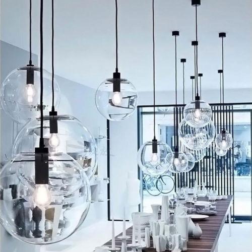 NEW Glass Ball Pendant Lamp Living Room Lamp Ceiling Lights Chandelier 9867HC