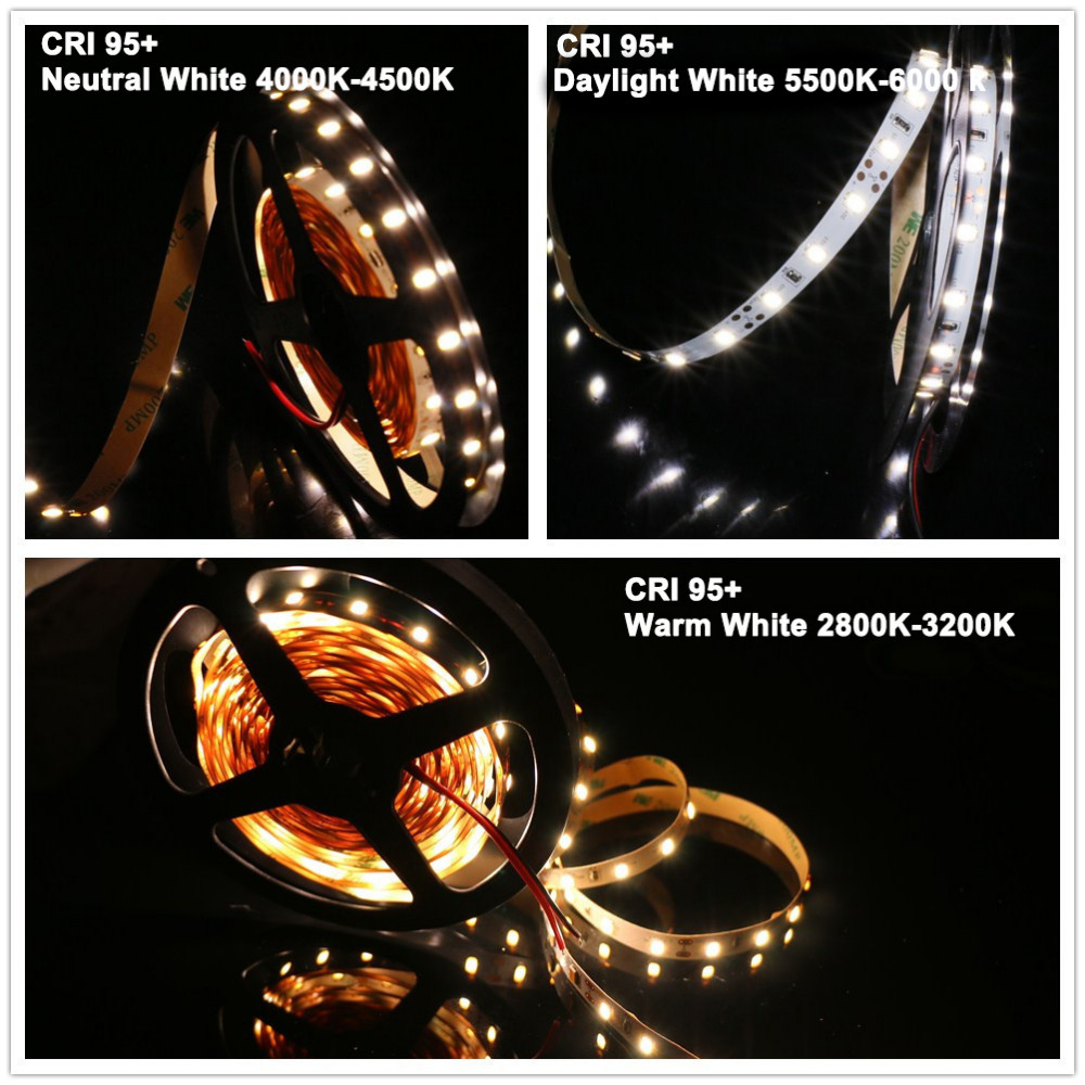 MARSWALLED High CRI95+ LED Strip Light SMD5630 Super Bright Warm White Netural White Daylight White Nonwaterproof oye white 41