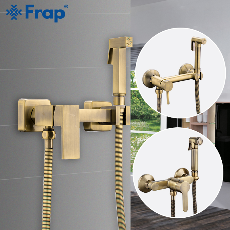 Frap Bidets Bronze Shower Head Wash Hygienic Shower Sprayer Anal Cleaning Hot & Cold Mixer Toilet Spray Kit Bidet SprayFrap Bidets Bronze Shower Head Wash Hygienic Shower Sprayer Anal Cleaning Hot & Cold Mixer Toilet Spray Kit Bidet Spray