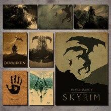 Popular Skyrim Game Print Painting-Buy Cheap Skyrim Game