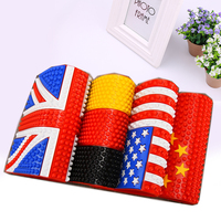 Car Auto Van Dashboard Cell Phone Multicolor National Flag Anti Slip Mat Pad