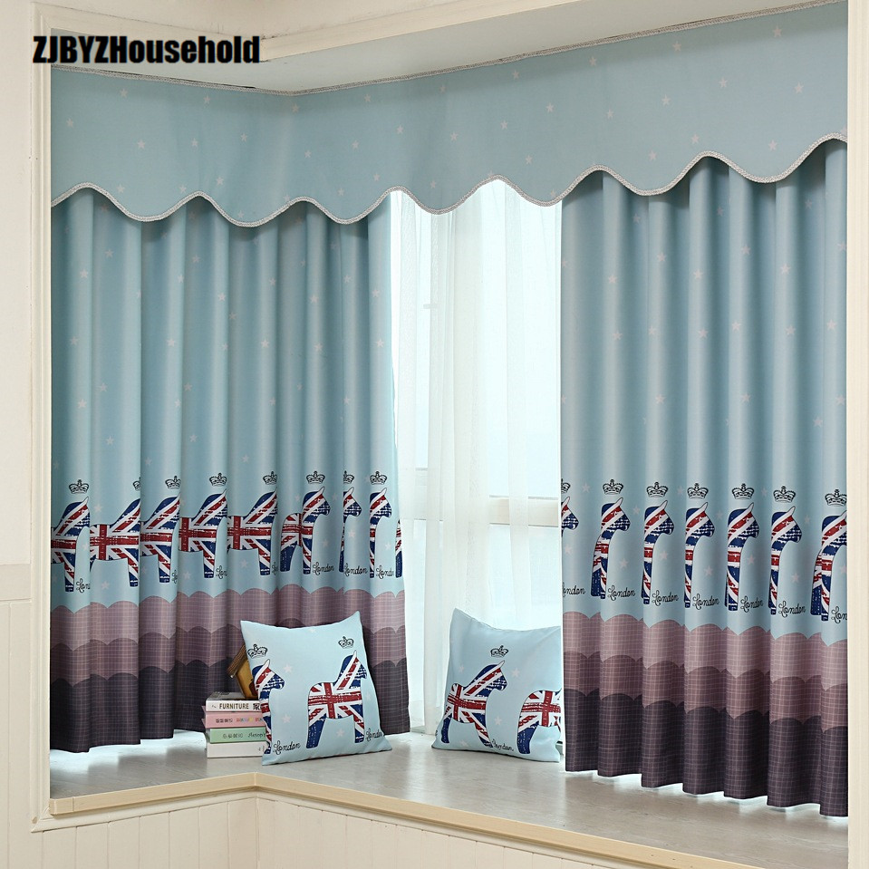 Cartoon Trees Curtains For Bedroom Cotton Linen Towel: Aliexpress.com : Buy Trojan Cotton Spandex Customized