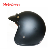 MotoLovee 2019 New Motorcycle Helmet Retro Vintage Cruiser Chopper Scooter Cafe Racer Moto Helmet 3/4 Open Face Helmet DOT недорого