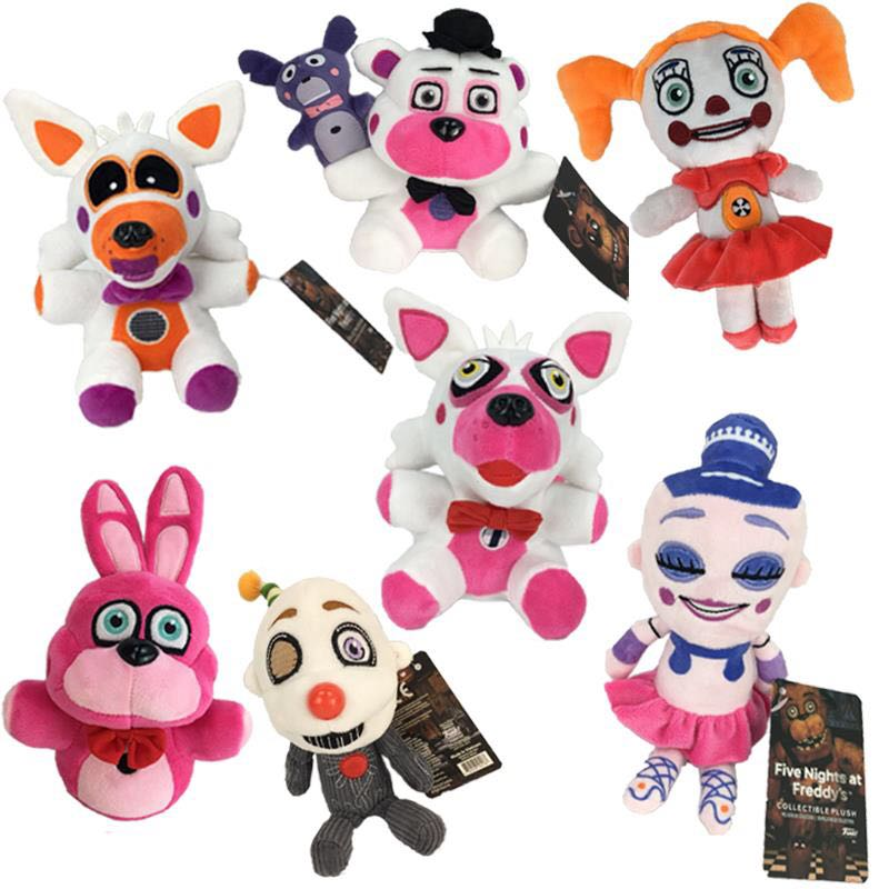 20cm FNAF Plush Toy Five Nights At Freddy Sister Location Funtime Freddy Bear Bonnie Baby Foxy Plush Stuffed Toys For Kids Gifts