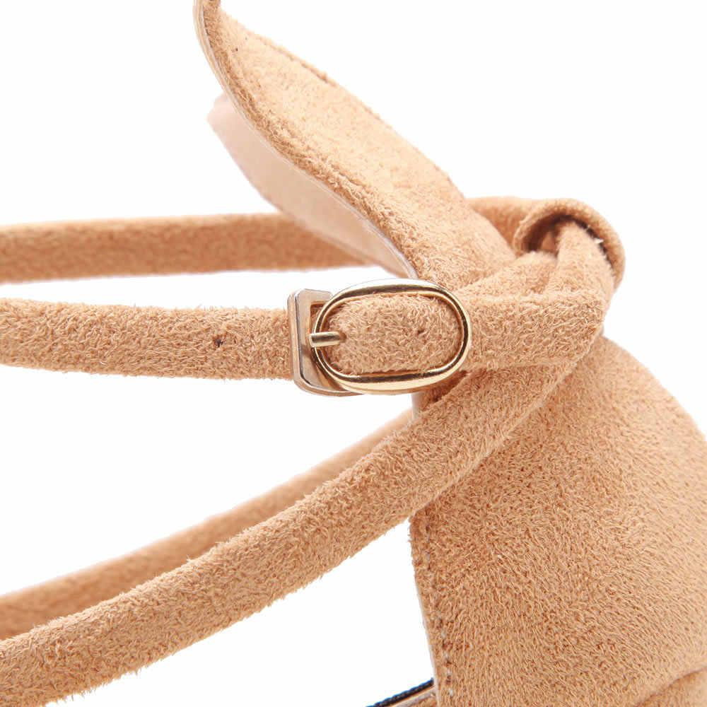 2019 Yeni Moda Siyah Yüksek Topuklu 9 cm Kadın Kış Kalın Sonbahar Süet Sivri Burun tek ayakkabı Kadın Kadın Sandalet A113