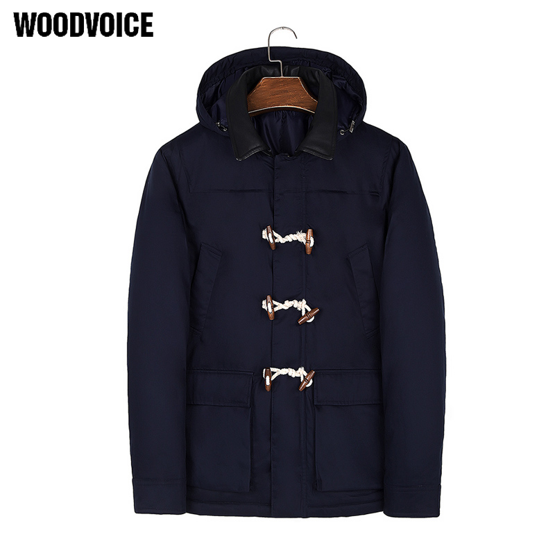 New Jacket Men 2018 Thick Winter Warm Outwear Coat Casual Solid Color Windbreak Thicken Clothing Male Zip Hooded Padded Jackets new men women winnter brand natural down coat thick feather padded outdoor jacket man hooded warm primaloft outwear