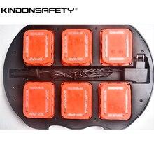 1 комплект,, 6 шт. в упаковке, дорожный предупреждающий светильник, Новейшая функция Syncable Road flash, магнитный мигающий безопасный маяк