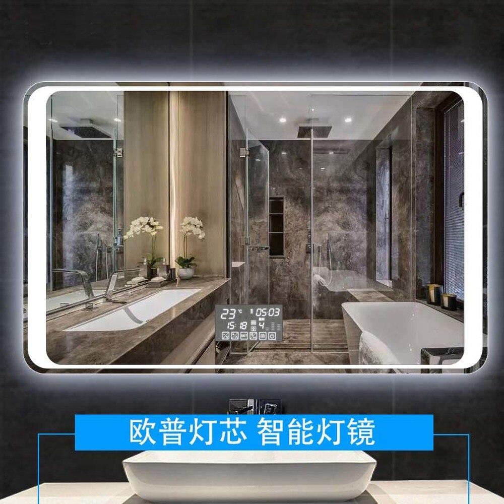 Miroir connecté miroir de salle de bain à led mur miroir pour salle de bain toilette de salle de bain brouillard lumière miroir avec écran tactile LO6111151