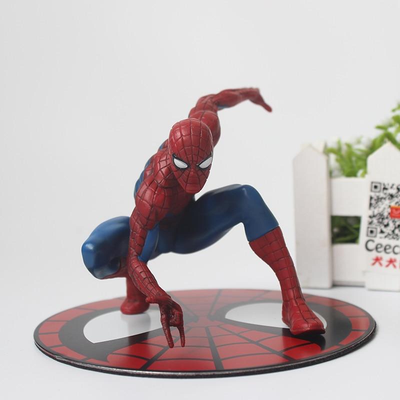 Avengers Spide Man PVC Action Figure Spiderman Car Doll Model Toys 12cm