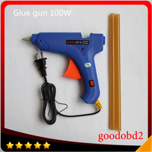 цена на Car Repair Removal Tool 100W Hot melt Glue Gun suit for 11mm for PDR Tools Paintless Dent Repair with 2x high quality glue stick