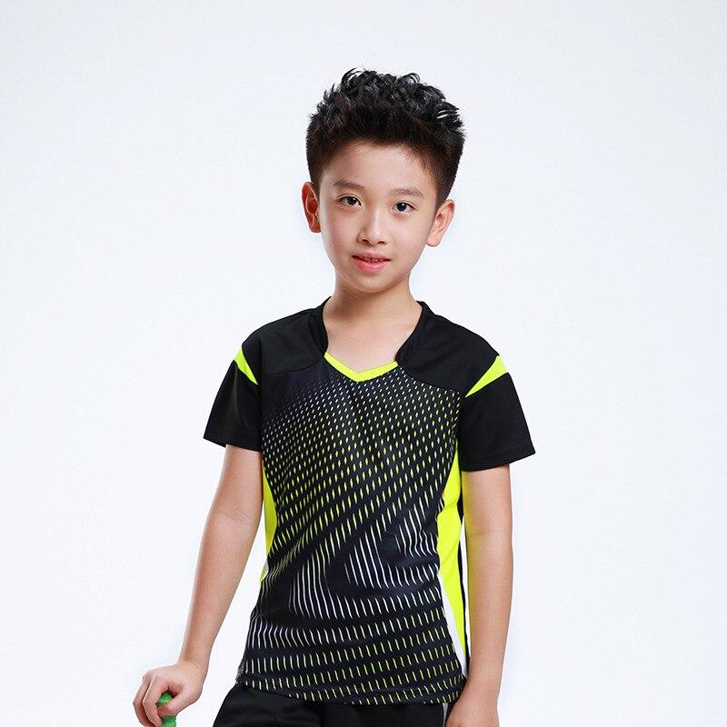 Free Print Children Badminton t shirt Boy , Girl sports Tennis tracksuit , kids Badminton t shirt , Child Tennis shirt AF006