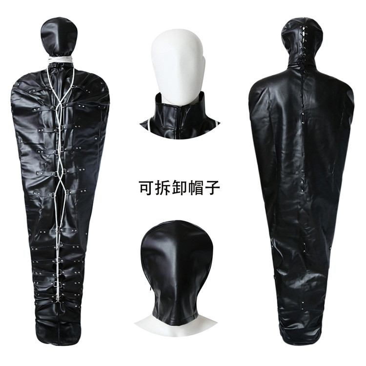 High-quality PU leather sex BDSM bandage harness Headgear sex slave adult games full body bandage restraint adult erotic toys miller titan by honeywell ac qc xsbl aircore full body harness x small blue