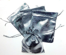 1000 unids 11*16 cm bolso de lazo bolsas de mujer de la vendimia de Plata para Wed/Partido/de La Joyería/de la Navidad/bolsa de Envasado Bolsa de regalo hecho a mano diy