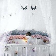 2M/3M Knot Baby Bed Bumper Knot cot bumper for Infant Newborn crib bumper Nursery Bedding Bumper Room Cot Dector