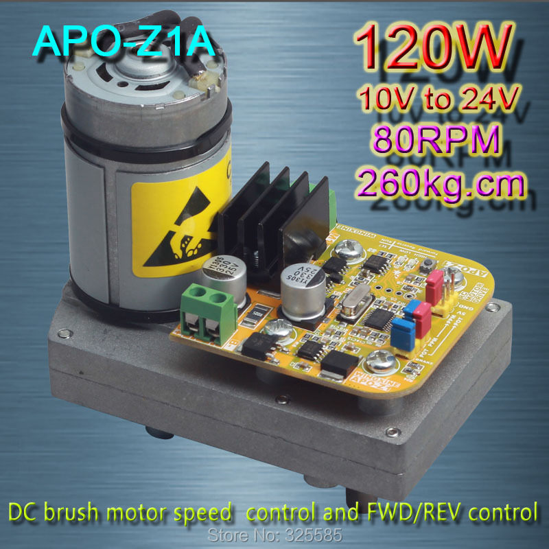 APO Z1A 80RPM 260kg DC brush motor speed control and FWD REV control