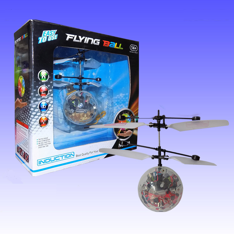 Hot new Kids toys Shiny flying fairy ball flashing toys RC Helicopter Induction flyer Baby RC