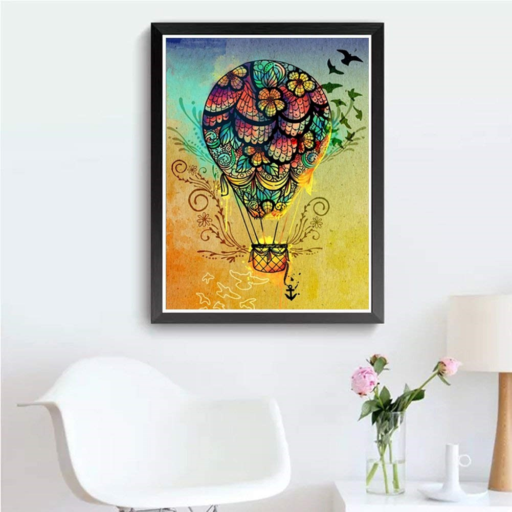 5D DIY Diamond Painting Hot Air Balloon Diamond Embroidery