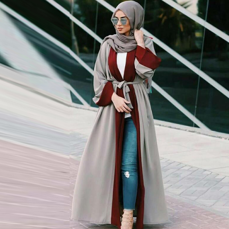 2019 Abaya Kaftan Abayas For Women Kimono Cardigan Muslim Dress Robe Dubai Jilbab Caftan Saudi Arab Turkish Islamic Clothing
