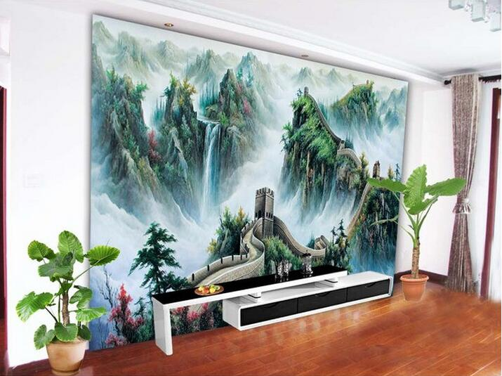 popular chinese wallpaper murals great wall-buy cheap chinese