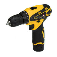 12V Dual Speed Waterproof Rechargeable Electric Drill Cordless Drill Portable Drill Screwdriver Tool Set 1 Battery