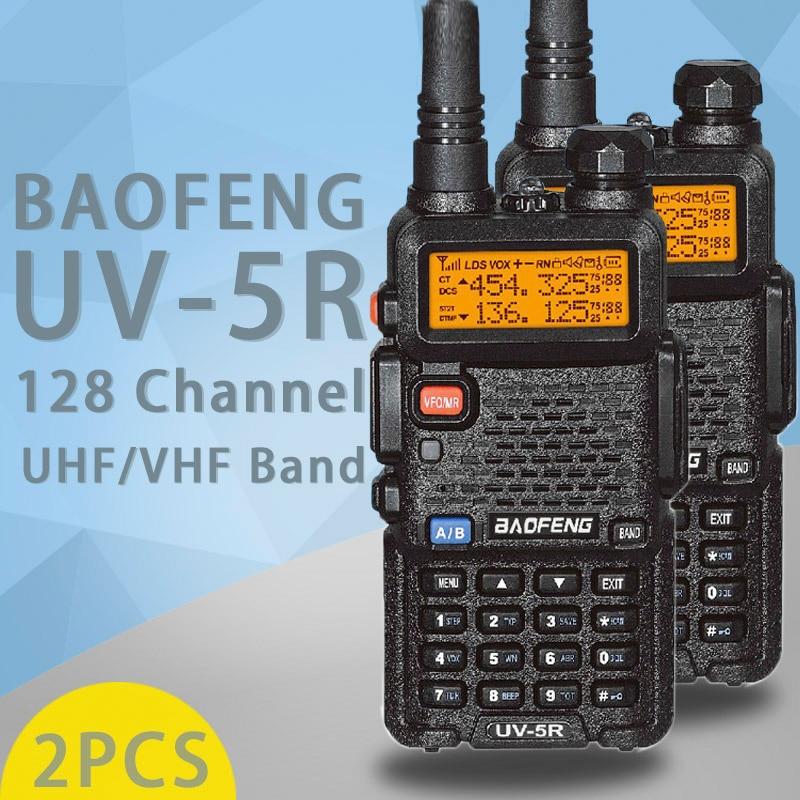 (2 PCS) BaoFeng UV-5R Talkie Walkie Dual Band Two Way Radio Pofung Portable Jambon Émetteur-Récepteur Radio Baofeng UV5R De Poche Toky Woky