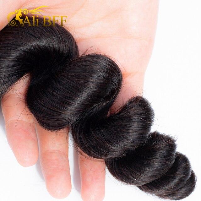 ALI BFF pelo brasileño onda suelta 1 mechones 3 paquete 4 mechones disponible 100% extensiones de cabello humano Remy extensiones de pelo ondulado mechones