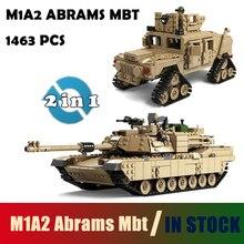 Совместимость с Lego Кази Военная Униформа M1A2 Танк Коллекция серии Транс Игрушечные лошадки 1:28 Abrams MBT Hummer Модель Строительство комплекты Конструкторы