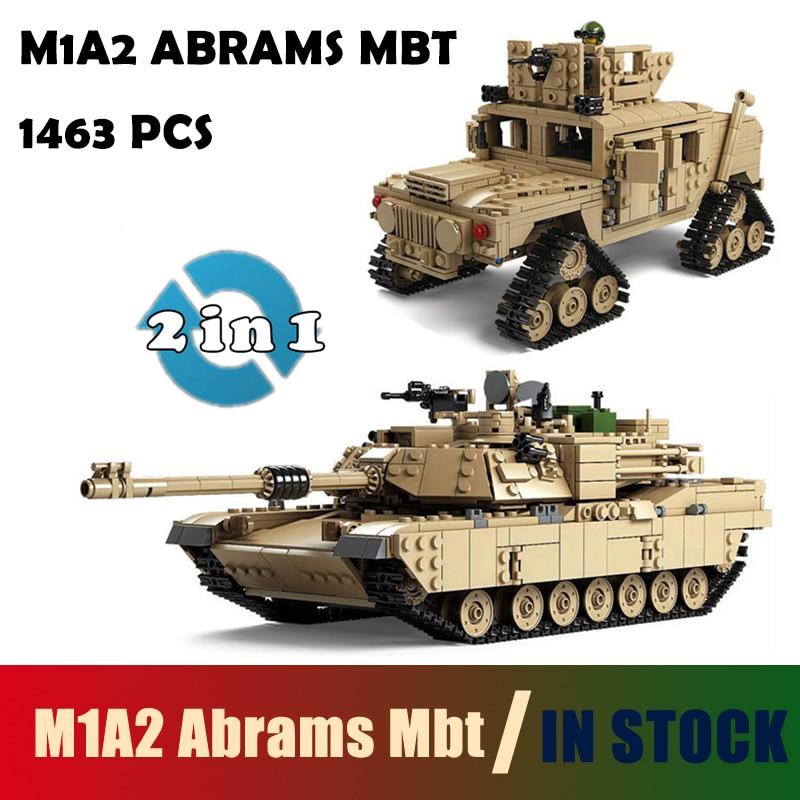 Kompatibel mit lego Kazi Military M1A2 Tank Sammlung Serie Trans Spielzeug 1:28 ABRAMS MBT HUMMER Modellbau kits Blöcke