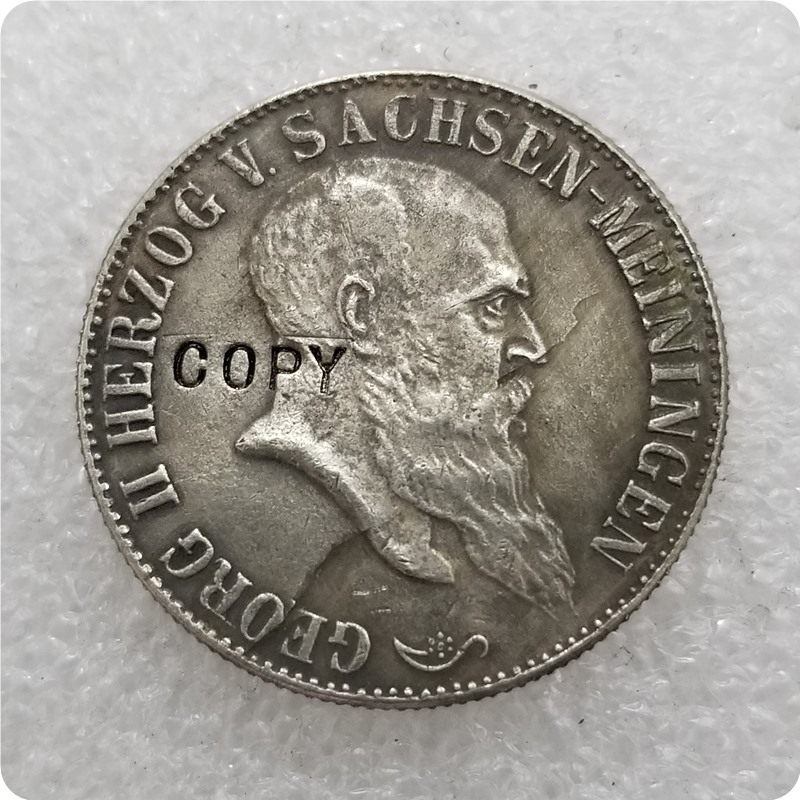 Германия 2 Марк ZWEI рейхсмарк 1901 немецкая рейхская монета редкая копия памятные монеты-копия монеты-Классические Монеты